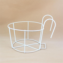 OEM High Quality Steel Wire Round Balcony Flower Pot Stand