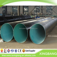 waterproof pe coated steel pipe with epoxy coating for underground waste water pipeline