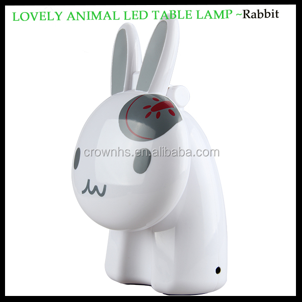 Cute Rabbit shape Portable led usb lamp&bar table lamp&touch kids table lamp for bedroom