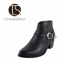Latest Chic Elegant Autumn Winter Ladies Genuine Cow Leather Platform Women Ankle Boots Shoes