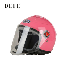 Fashionable half face flip up motorcycle helmet with double visors