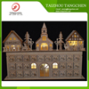 Hot Sale Calendar Accessories LED Wooden Advent Calendar Christmas House framed Picture with LED Lights