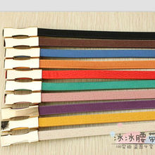 2012 New Design Fashion women decorative PU belt, 10 colors candy color fashion belt for women wholesale and retail