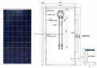 High Quality HSPV 235w Tuv Pv Solar Panels With factory direct low price