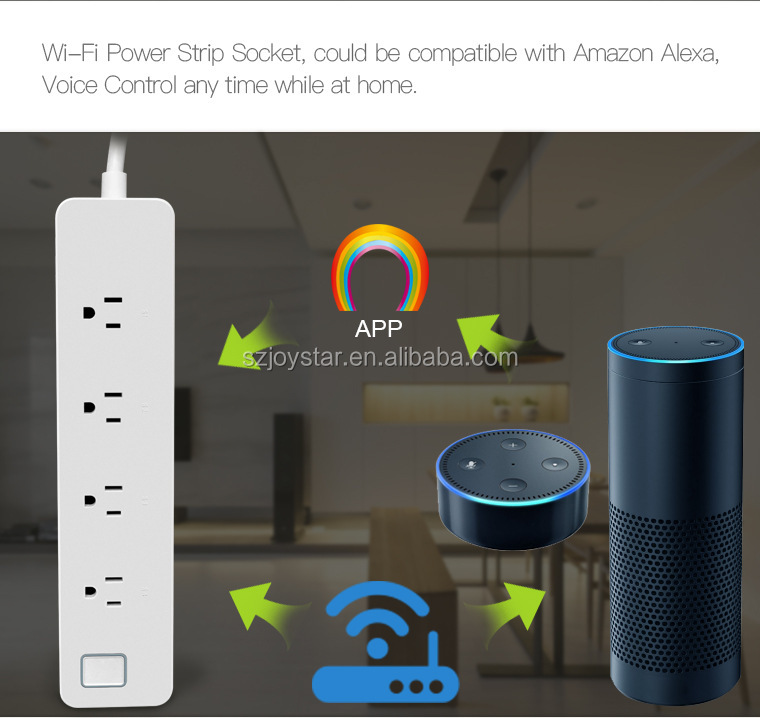 Automation WiFi Smart Power Socket,/Smart Power /Surge Protector 4 AC Outlets Works with Amazon Alexa Control by Android/ IOS