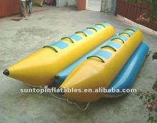 durable and exciting inflatable pvc banana boat/inflatable kayak