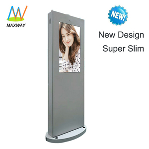 55 Inch Large Big Outdoor Advertising Lcd Display Screen Tv Floor Stand Digital Signage Kiosk
