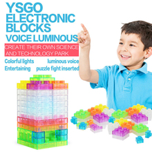 32PCS sound control light plastic enlighten toys funny bricks