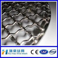Food grade woven wire mesh screen, stainless steel crimped wire mesh
