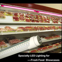 4ft 1200mm t5 t8 led red tube animal 18w for fresh meat
