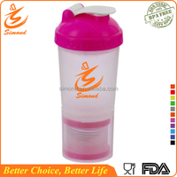600ml plastic smart shaker with netting and container, Wholesale
