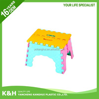 Adjustable plastic foot stool