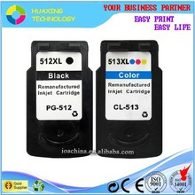 compatible canon ink cartridge PG-512 CL-513 for canon pixma mp240 /mp480/mp490