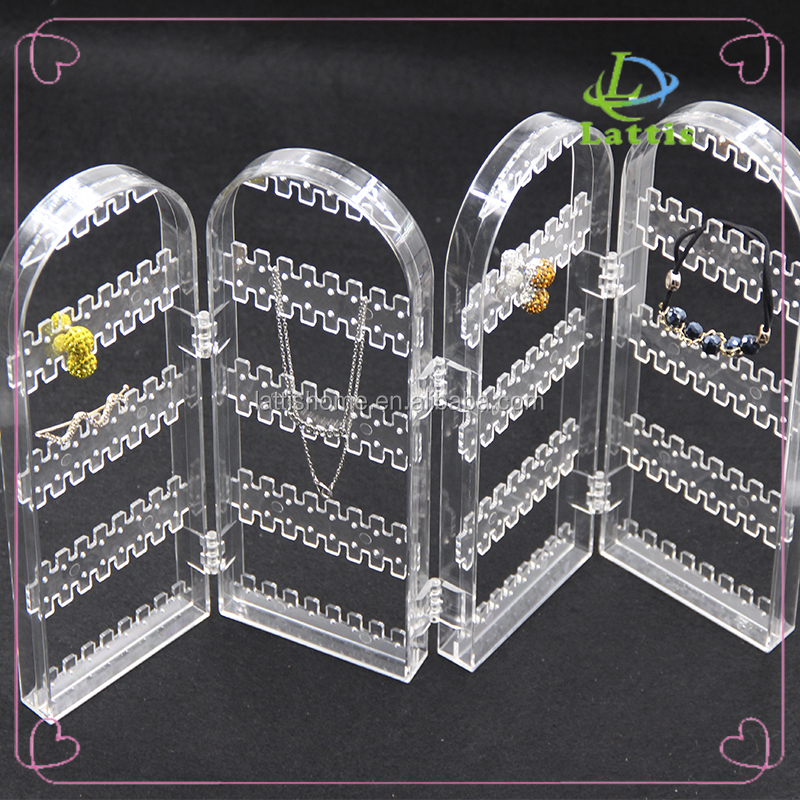 New design simple transparence acrylic makeup jewelry cosmetic display stand
