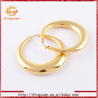 Elegance style design circle round shaped earrings gold jewelry earrings