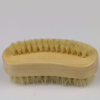 2 in 1 wooden nail bath cleaning brush with nylon bristle