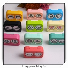plastic square glass box contact lenses case