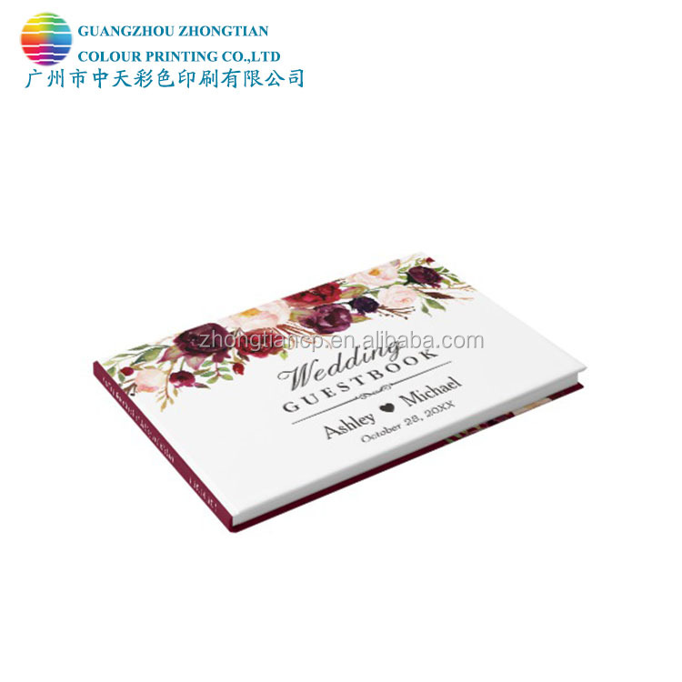 Zhongtian colour printing wedding guest/ planner <strong>book</strong>