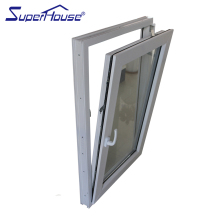 Superhouse PVC material aluminium tilt turn window