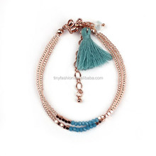 Cheap Jewelry Promotional Gifts Customized Handmade Gold Nugget Bracelet Beaded Wrap Bracelet