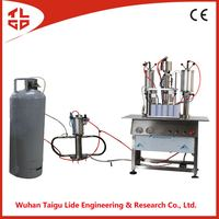 3 in 1 single person operate aerosol spray paint filling machine