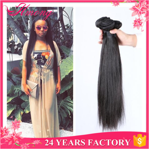 Wholesale 100% Human Hair Extension 22 24 26 28 30 Inches Brazilian Hair Weave
