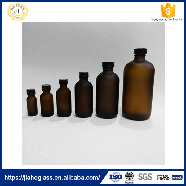 chemical glass pharmaceutical/boston bottle with black phenolic cap/batelite cap from 0.5oz 15ml to 16oz 500ml
