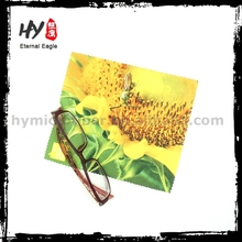 Wholesale silk eyeglasses cleaning cloth, microfiber cleaning cloth with digital printing, white cleaning cloth