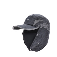 Christmas Gift Men Women Winter Hats Thickening Warm Ear Flap Hat 4 Colors Pink Blue Grey Black