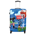 4 wheel large hard suitcase lightweight colorful hard case luggage sale