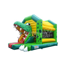 SUNJOY Factory Cheap Price Small Inflatable Indoor Bouncers SJ-CO14004 Hot Sale EN14960 Crocodile Combo Inflatable Bouncer