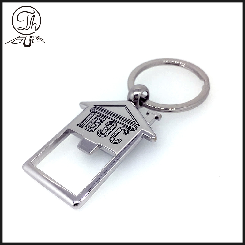 Fashionable Folk Art Metal Key Chains Blank