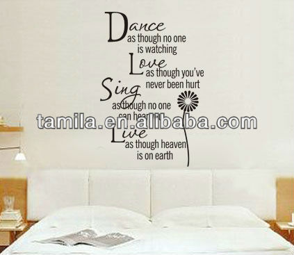 Wholesale Art Quotes Vinyl Wall Sticker