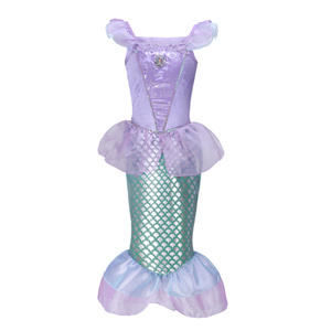 Pettigirl Mermaid Fancy Kids Girls Dresses Toddler Party Costumes Princess Ariel