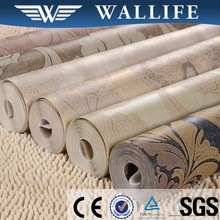 Chinese modern beautiful pvc Wall paper home decoration wallpaper rolls prices