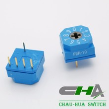 High quality digital waterproof 10X10 IP67 waterproof DIP Rotary Switches