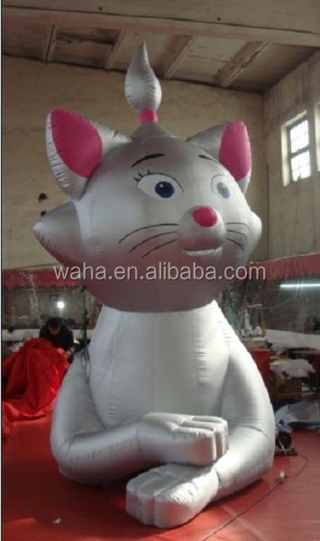 2015 Outdoor advertising inflatable animal/silver/13ft/4m/400cm/inflatable cat cartoon W557