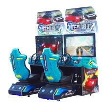 game center simulator car racing two player arcade game machine