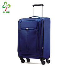 "20"" Blue travel expandable trolley luggage carrier, carry-on luggage suitcase with spinner wheels"
