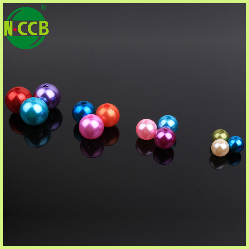Ebay best selling china mix color abs pearl plastic 5mm round beads