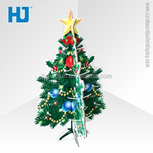 CMYK Printing Paper Christmas Tree Cardboard Hooks Display Stand for Festival Decorations / Gift / Accessories