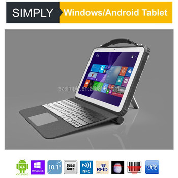 Simply T12 12inch IP67 rugged android tablet with intel cpu NFC 1D 2D reader 15000mAh loadable batteries standard DB9 connector