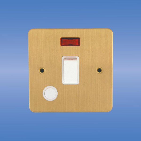 20Amp Double Pole switch(Flat brushed Brass),wall switch,water heater