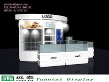 bespoke bakery MDF cosmetics makeup showcase kiosk/used jewelry kiosk