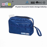 Hanging foldable travel cosmetic organizer bag