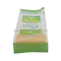Hot sale side gusset plastic bag opp food packaging bags for nuts