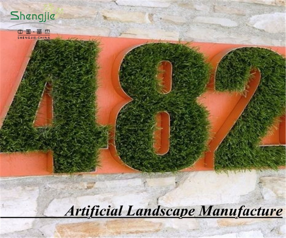 new design letter decorative wall for home artificial grass wall topiary