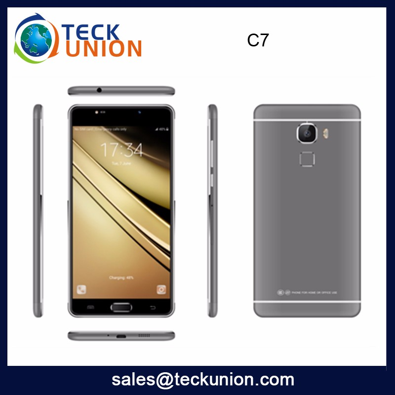 C7 5.5Inch 3G High Quality Quad Core Handset Mobile Phone Android High Configuration Low Price Smart Phone