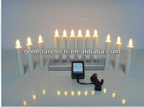 white color remote control rechargeable led candle