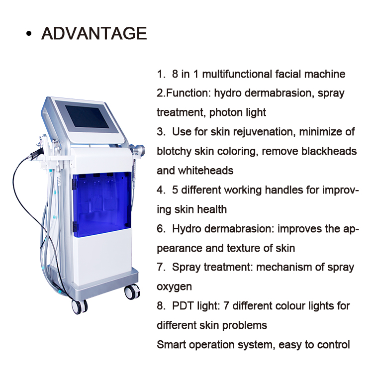 Deep cleaning clear skin vacuum spa beauty machine